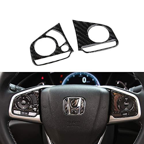 - TopDall Carbon Fiber Steering Wheel Media Panel Sticker for Honda Civic 2016-2019