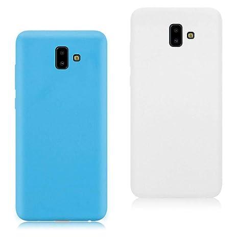 EuCase 2X Funda para Samsung Galaxy J6 Plus 2018 Silicona ...