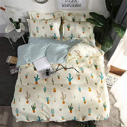 Home Textile Autumn Dark-Color Flower Series Bed Linens 4Pcs Bedding Sets Bed Set Duvet Cover Bed Sheet Mans Cover Set 25 Queen ()