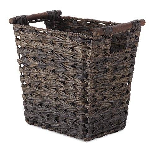 Whitmor Split Rattique Driftwood Waste Basket,