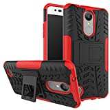 LG Aristo Case, LG Phoenix 3 Case, LG LV3 Case, LG Fortune Case,Yiakeng Shockproof Impact Protection Rugged Dual Layer Protective Armor Case Cover with Kickstand 5' (Red)