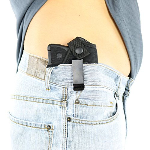 ComfortTac Concealed Carry Holster | Carry Inside The Waistband IWB or Outside The Waistband OWB | Size 1 Fits S&W Bodyguard, Ruger LCP, Kel Tec P3AT, Kahr P380, NAA Guardian, and Most .380 (Right)