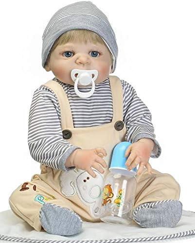 22/'/' Full Silicone Reborn Baby Doll Bathe Best Bebe Reborn Doll 57cm