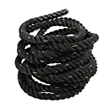 Coldcedar Battle Rope Premium Workout Fitness Training Climbing Rope | 1.5/2in Diameter, 30/40/50ft Length Outdoor/Indoor Manila Gym Climbing Rope (1.5'' x 50ft)