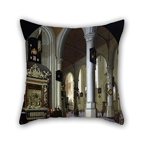 Slimmingpiggy The Oil Painting Hendrik Van Vliet - Old Church In Delft With The Tomb Of Admiral Tromp Cushion Cases Of ,20 X 20 Inches / 50 By 50 Cm Decoration,gift For Girls,home,father,play Room,g