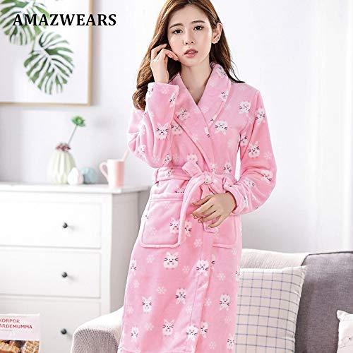 De Bata Otoño Dormir Tallas Coral Ropa Invierno Fleece Camisón Pink Mujeres Pijamas Grueso Jylw Grandes Mouse Larga Mujer Albornoz x6BOqw4n0a