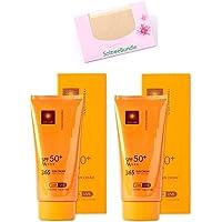 SoltreeBundle 2pcs Korean Professional 365 Sun Cream Sun Block 2.37 Oz/70ml SPF50+ / PA+++ with SoltreeBundle Oil…