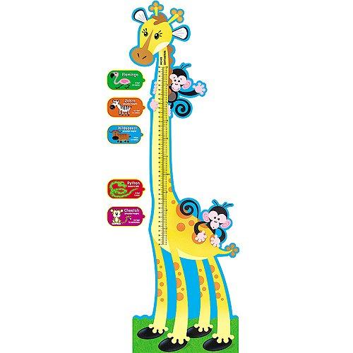 Giraffe Growth Chart Bulletin Board Set, 6 ft, Sold as 1 Set TREND ENTERPRISES INC. T-8176