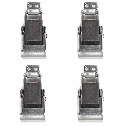 TCH Hardware 4 Pack Stainless Steel Drawer Latch + Strike Catch - Spring Loaded Toggle Hasp Clamp for Case Chest Trunk Box Draw