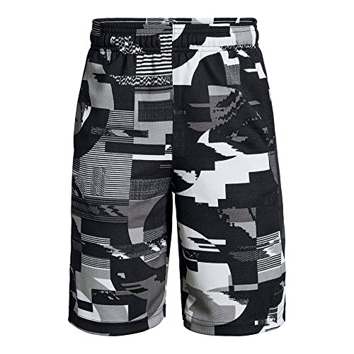 Under Armour Boys Baseline Short, Black (001)/Graphite, Youth Small
