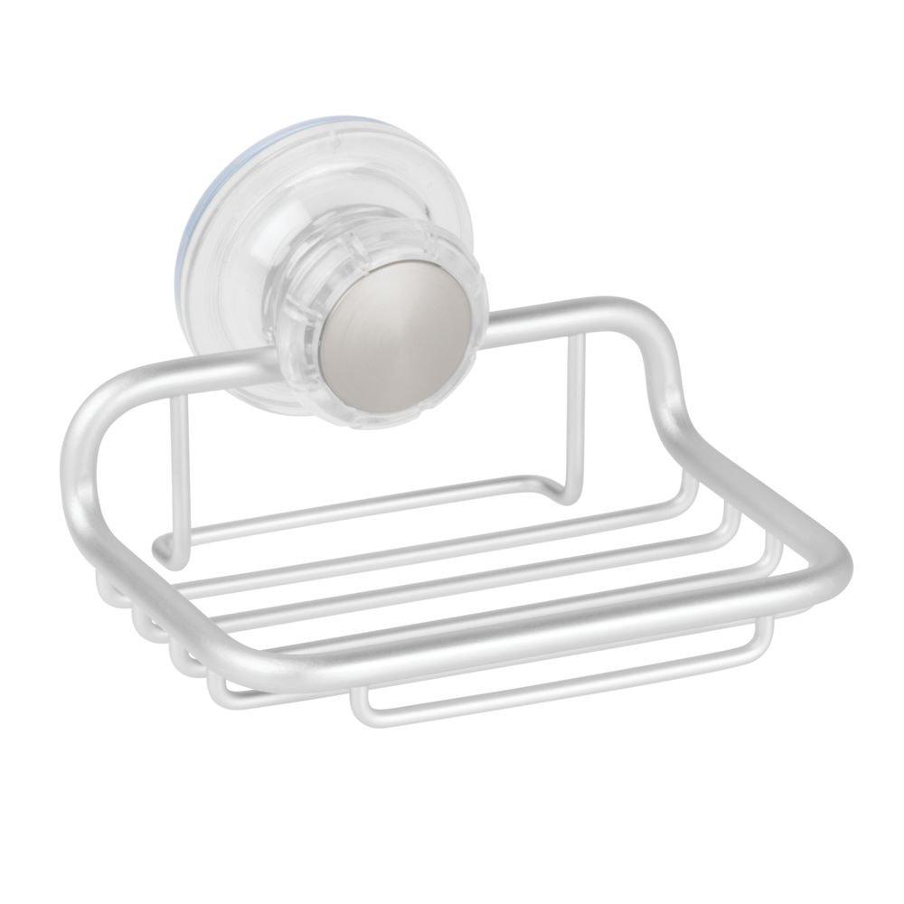 Amazon.com: InterDesign Metro Rustproof Aluminum Turn-N-Lock Suction ...
