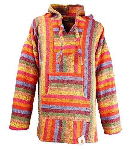 Funny Guy Mugs Premium Baja Hoodie Sweatshirt Pullover Jerga Poncho (Firefly, Small)