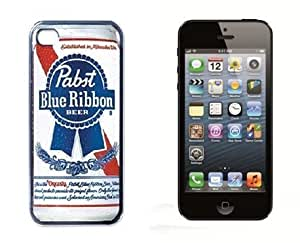 Pabst Blue Ribbon Logo Cool Case For Iphone iphone 4s Cover Case Black Designer Shell Hard Protector Gift Idea