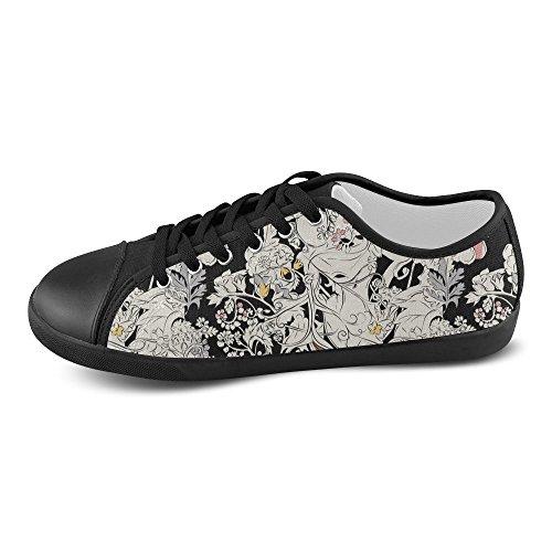 Shoes Artsadd Women Artsadd Canvas Model016 For Flowers Flowers qPwI1R6U