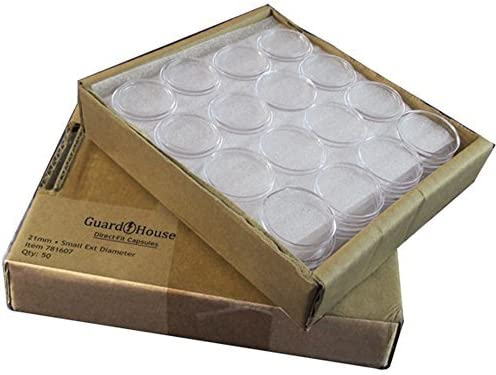 21 mm for Nickels 10 Direct Fit COIN CAPSULES