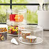 Stackable Clear Plastic Hair Accessory Containers