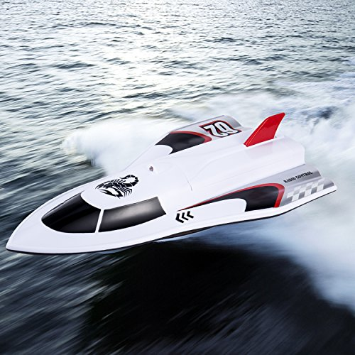 RC Boat Remote Control Boat for Pool & Outdoor Use 40MHz High-Speed Racing Boat with Remote Control for Adults & Kids