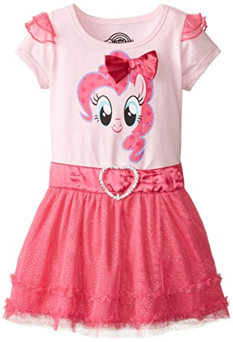 My Pony Little Girls' Toddler My Pony Pink Dress, Light Pink/Hot Pink, (Pinky Costumes)
