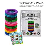 22 Pack Repellent Bracelet - 100% Natural Plant-Based Oil, DEET Free & Non-Toxic Repellent Wristbands for Kids, Adults & Pets, Waterproof in Multiple Colors (Multi)