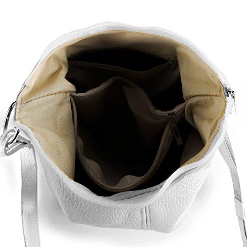 Blanc BAG main Beaubourg MY en Sac à OH cuir femme Modèle FvpnqROxw