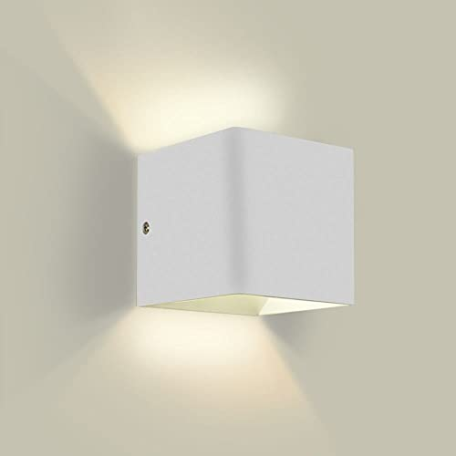Square indoor wall lights amazon ghb 5w led wall light up and down wall light 2700k warm white aloadofball Image collections