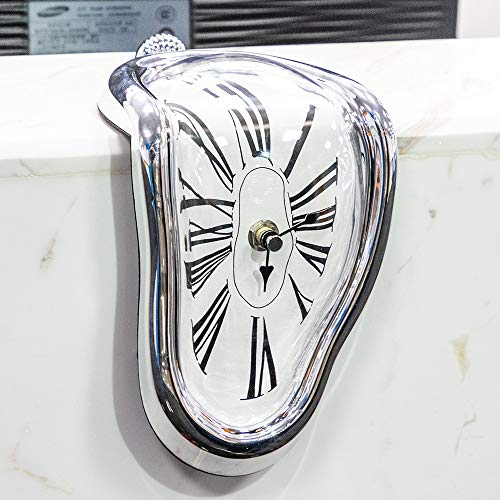 Amazon.com: Wall Clock Novel Surreal Melting Distorted Surrealist Salvador Dali Style Wall Watch Decoration Gift BestSelling2018Products!!: Home & Kitchen