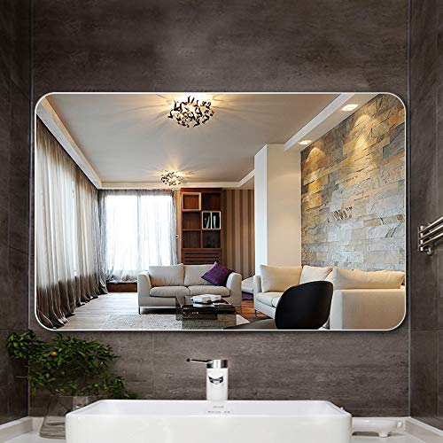 L-KCBTY Frameless Rectangular Bathroom Mirrors,Wall-Mounted Vanity Mirrors,Horizontal/Vertical Explosion-Proof Mirror,20x28in/24x32in,Dresser Mirror