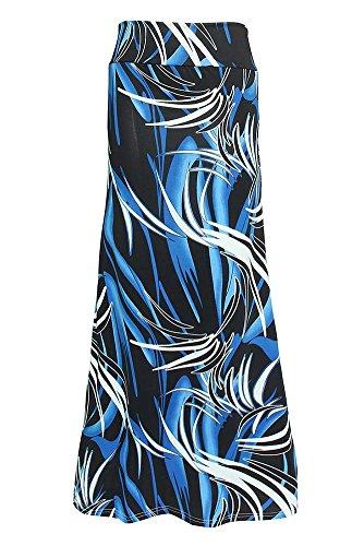 Jupe De Imprim Longue Femme Jupe Haute Maxi Bleu 94250 Taille Plage Bohme Longue wUSSYOx1qX