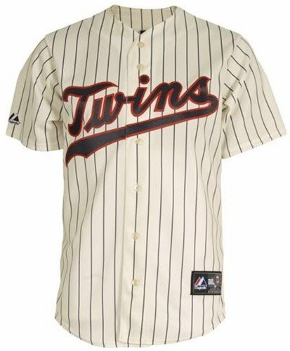 13f2f294bf4 Image Unavailable. Image not available for. Color: VF Minnesota Twins  Throwback Pinstripe MLB Majestic Replica Jersey ...