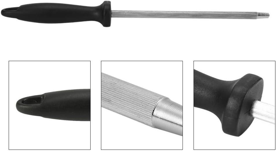 3 Affilatoio con supporto antiscivolo Affilacoltelli ovalaire di coltelli Cote affilacoltelli professionale in acciaio
