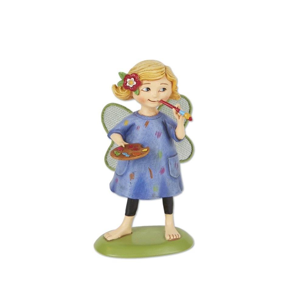 Studio M ME904 Mary Engelbreit Merriment Fairy Garden Miniatures Set, Maisie The Artist
