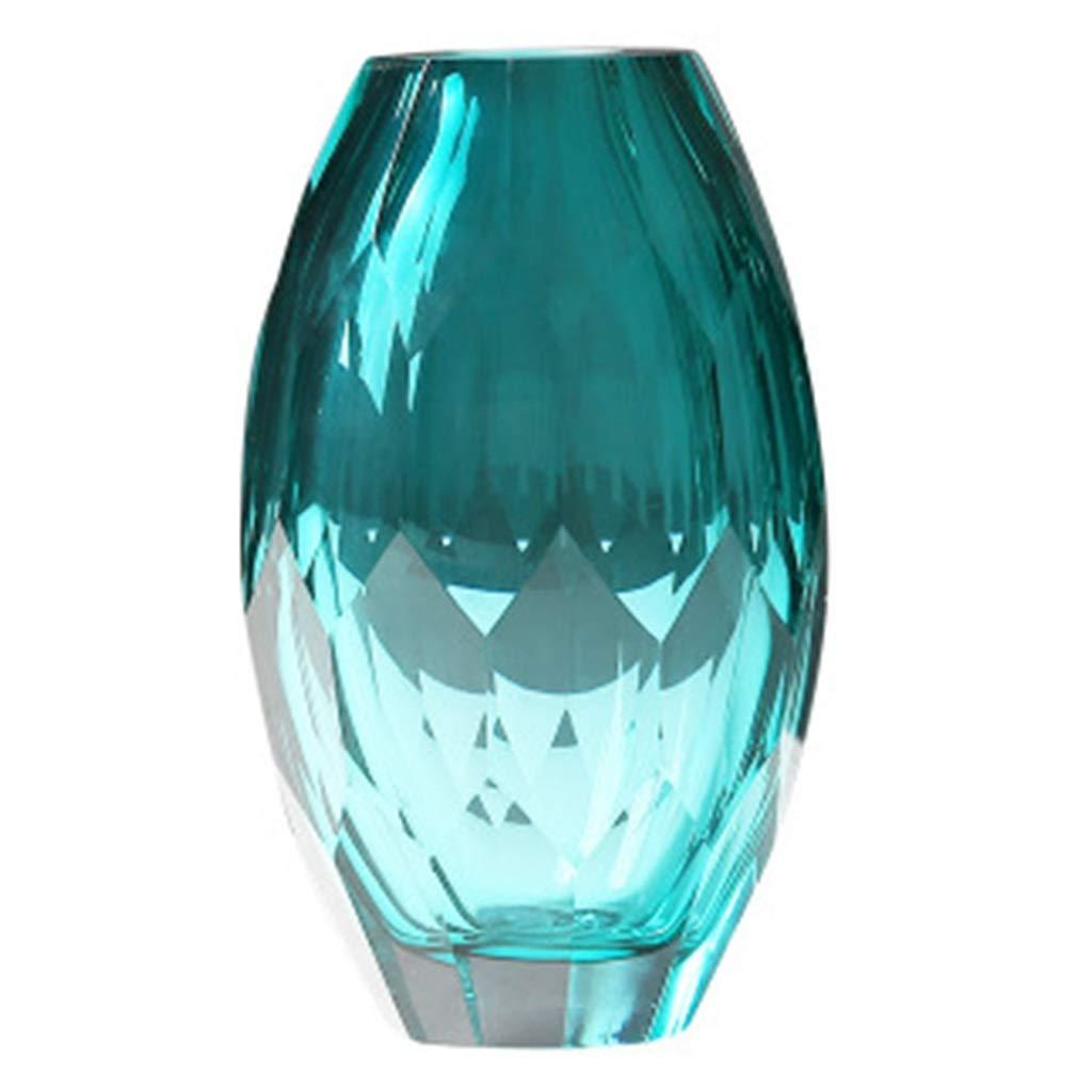 ガラス花瓶、シンプルなスタイル手作りグリーンポリッシュ装飾フラワーアレンジメントホームルームベッドルーム理想的なギフト B07S9RMFF8