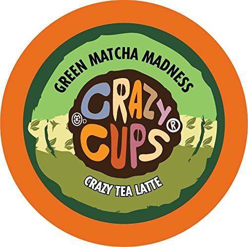 Crazy Cups Matcha Tea, for Keurig K-Cup 2.0 Latte 22 Ct (Green Matcha Madness)