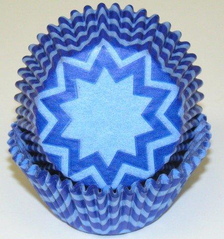 chevron blue cupcake liners - 7