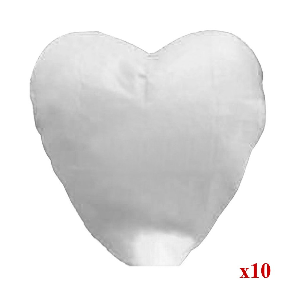 Alrens_DIY(TM) Pack of 10 Love Heart Shaped Chinese Sky Fly Fire Paper Lanterns Wish Balloon Wishing Lamp for Wedding Birthday Christmas Party Celebration Lanterns (White)
