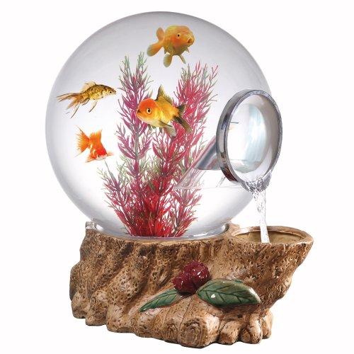 5 Gallon Fish Tank Globe Nightlight Waterfall Fountain Water-Vacuum Technology