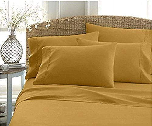 Authentic Heavy Quality Super Soft Bed Sheets 1200-Thread-Count Egyptian Cotton 4-Pieces Sheet Set Fits 10-11