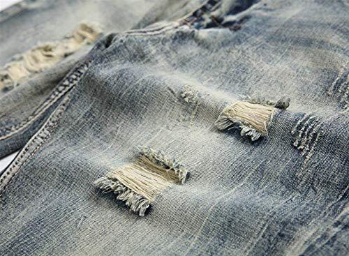 Pantalones Cortos De Mezclilla De Verano Para Hombres Pantalones De Mezclilla Clásico Pantalones De Mezclilla Desgastados Look De Mezclilla Desgastado Pantalones Cortos De Mezclilla Jeansshort Chicos Grau