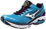 Mizuno Men's Wave Rider 16 Running Shoe,Blue/White/Lime,12.5 D US