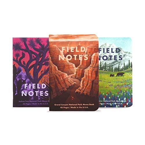 Field Notes: National Parks Series (Series B - Grand Canyon, Joshua Tree, Mount Rainier)