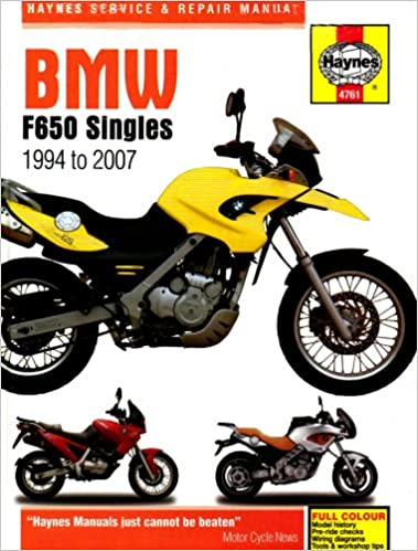 Haynes BMW F650 Singles Manual 4761: unknown: 9781844257614 ... on
