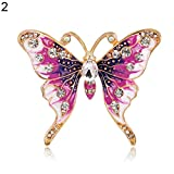 Finance Plan Women Retro Butterfly Multicolor Enamel Shiny Rhinestone Brooch Pin Jewelry Gift