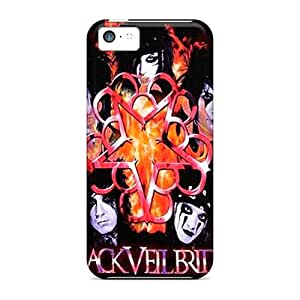 Awesome Black Veil Brides Flip Case With Fashion Design For Iphone 5c