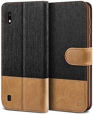 BEZ Funda Samsung Galaxy A10, Carcasa Compatible para Samsung A10 Libro de Cuero con Tapas y Cartera, Cover Protectora con Ranura para Tarjetas y Billetera, Cierre Magnético, Negro: Amazon.es: Electrónica