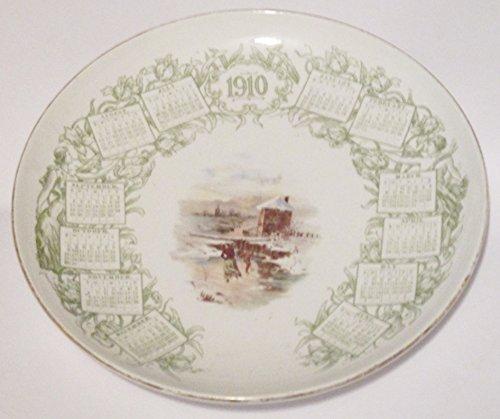 1910 Advertising Calendar Plate w/ Ice Skating Scene ... Louisville Kentucky