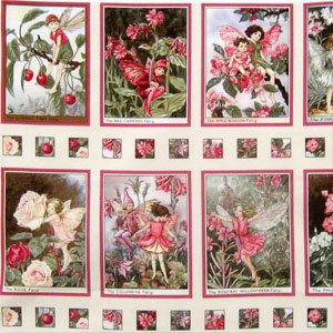Blossom Flower Fairies Printed Quilting Cotton Fabric 12