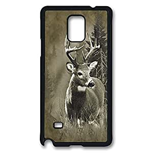Samsung note 4 Case Lone Buck Deer PC Hard Plastic Case for Samsung note 4 Black