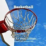Basketball 8.5 X  8.5 Calendar September 2019 -December 2020: Monthly Calendar with U.S./UK/ Canadian/Christian/Jewish/Muslim Holidays-Basketball Sports and Recreation