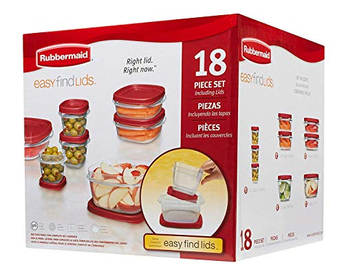 Rubbermaid Easy Find Lids Food Storage Container, 18-Piece S