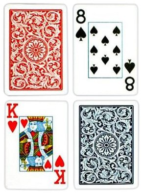 Index Poker Cards (Copag Poker Size Jumbo Index 1546 Playing Cards (Blue Red Setup))